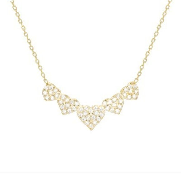 "Jewelry - GOLD PLATED HEART NECKLACE 16"" TO 18"""